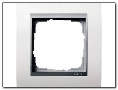 ramka pojedyncza aluminiowy gira event bia y matowyel4. Black Bedroom Furniture Sets. Home Design Ideas
