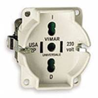 Universal outlet insert ivory